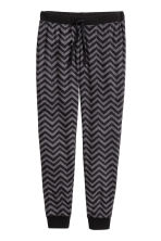 Pantaloni da pigiama in pile - Nero/zig-zag - DONNA | H&M IT 2