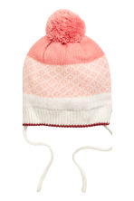 Hat and mittens - Powder pink - Kids | H&M CN 3