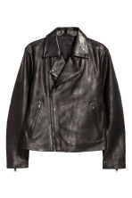 Leather biker jacket - Black - Men | H&M CN 2