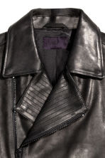 Leather biker jacket - Black - Men | H&M CN 3