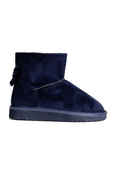 Warm-lined boots - Dark blue - Kids | H&M CN