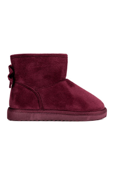 Warm-lined boots - Burgundy -  | H&M CN 1