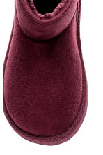 Warm-lined boots - Burgundy -  | H&M CN 3
