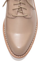 Patent platform shoes - Light beige - Ladies | H&M CN 4