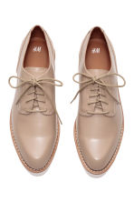 Patent platform shoes - Light beige - Ladies | H&M CN 3
