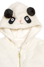 Hooded plush jacket - Natural white - Kids | H&M CN 3