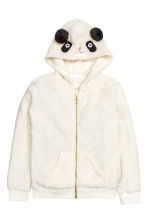 Hooded plush jacket - Natural white - Kids | H&M CN 2