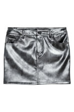 Short skirt - Black/Metallic - Ladies | H&M GB 2