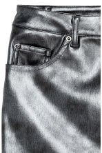 Short skirt - Black/Metallic - Ladies | H&M GB 3