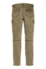 Cargo pants in a lyocell blend - Khaki green - Ladies | H&M CN 3