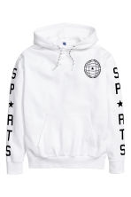 Hooded top with a print motif - White -  | H&M CN 2