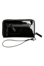 Zipped purse - Black/Patent - Ladies | H&M CA 2