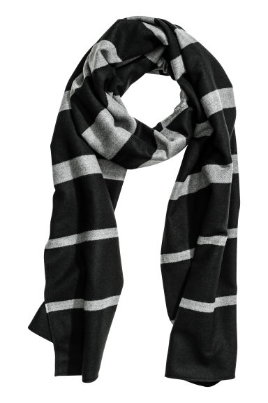 Woven scarf - Grey/Striped - Ladies | H&M CN 1