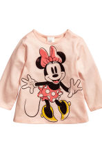 2-pack long-sleeved tops - Powder pink/Minnie Mouse - Kids | H&M CN 2