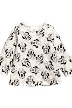 2-pack long-sleeved tops - Powder pink/Minnie Mouse - Kids | H&M CN 3