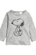 2-pack long-sleeved tops - Grey/Snoopy - Kids | H&M CN 3