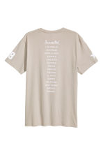 Printed T-shirt - Beige/Los Angeles - Men | H&M CN 3