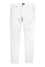 Twill trousers Skinny fit - White - Men | H&M CN 2