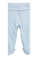 2-pack trousers with feet - Blue -  | H&M CN 3