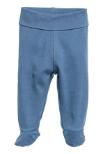 2-pack trousers with feet - Blue -  | H&M 2