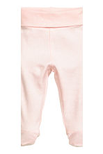 2-pack trousers with feet - Light pink/Spotted -  | H&M CN 3