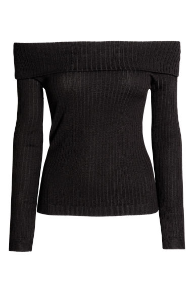 Top a spalle scoperte - Nero - DONNA | H&M IT 1