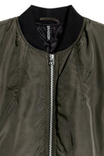 Long bomber jacket - Dark khaki green - Ladies | H&M GB 3