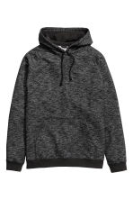 Hooded top - Black marl - Men | H&M 2