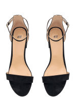 Ankle-strap sandals - Black - Ladies | H&M GB 2