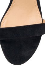 Ankle-strap sandals - Black - Ladies | H&M GB 3