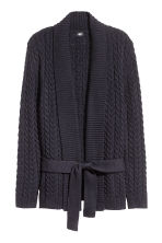 Cable-knit cardigan - Dark blue - Men | H&M CN 2