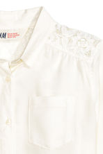 Blouse with lace details - White - Kids | H&M CN 3