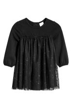 Tulle dress with bodysuit - Black - Kids | H&M CN 1