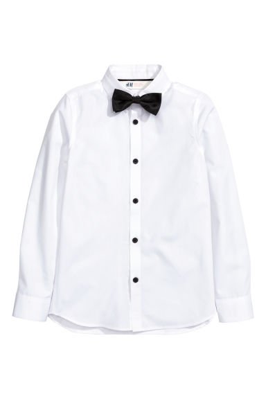 Generous fit Shirt - White - Kids | H&M CN 1