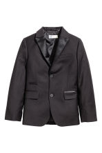 Jacket with satin details - Black - Kids | H&M CN 2