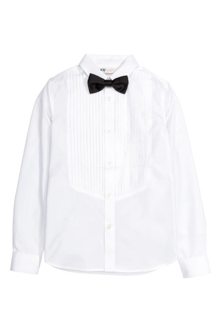 Dress shirt with a bow tie
