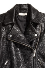 Leather biker jacket - Black - Ladies | H&M GB 3