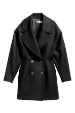 Wool-blend coat - Black - Ladies | H&M CN 2