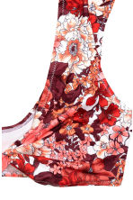 Soft bikini top - Red/Floral - Ladies | H&M CN 3