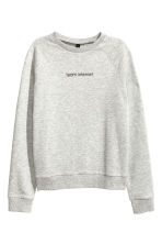 Sweatshirt with motif - Grey - Ladies | H&M CN 2