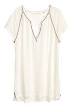 Top in a linen blend - Natural white - Ladies | H&M CN 2