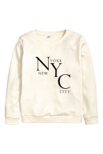 Printed sweatshirt - Natural white/New York - Kids | H&M CN 2