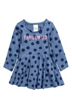 Printed jersey dress - Blue/Spotted - Kids | H&M CN 1