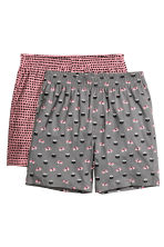 2-pack pyjama shorts - Grey/Sushi - Men | H&M CN 2