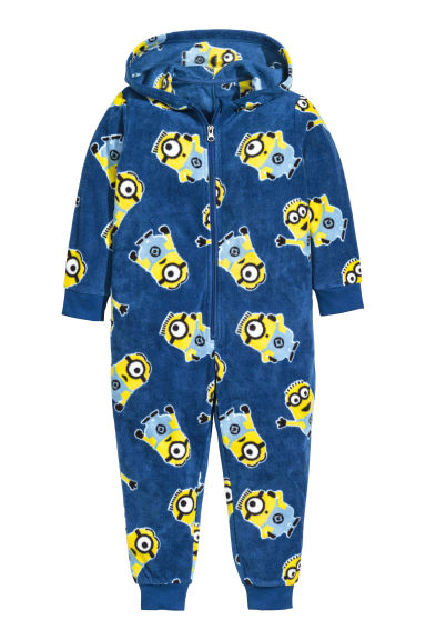 Tuta in pile - Blu scuro/Minions - BAMBINO | H&M IT