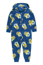 Tuta in pile - Blu scuro/Minions - BAMBINO | H&M IT 1