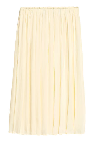 Pleated skirt - Natural white - Ladies | H&M CN 1
