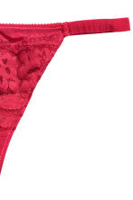 Lace string briefs - Red - Ladies | H&M CN 3