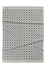 Patterned rug - Natural white/Grey-blue - Home All | H&M CN 1