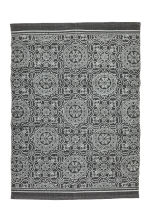 Patterned cotton rug - Anthracite grey - Home All | H&M CN 1